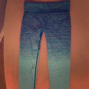 Blue Ombré Leggings